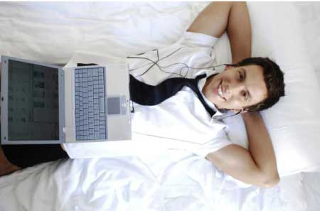 Entspannter Unternehmer